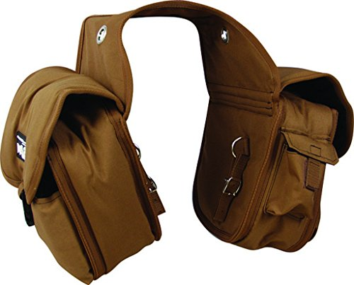 Top Quality Denier Saddle Bags, Heavy Duty Horse Trail Gear Bags with Padded Outer Pockets, Cashel Size: Medium Color Choice: Brown, Black, Camo or Orange