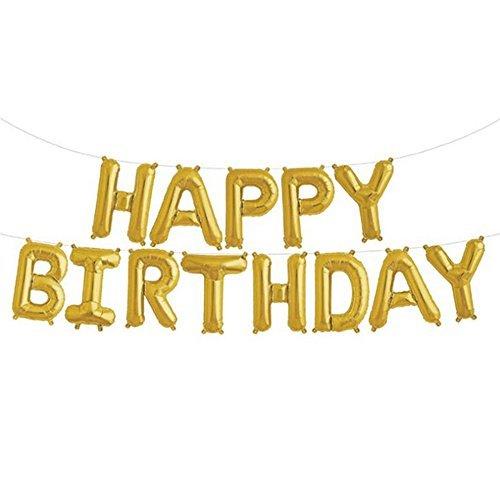 Happy Birthday Letter Foil Mylar Balloon, 16