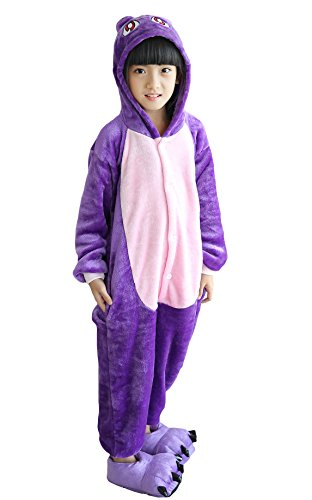 Kid's Unisex Fleece Onesie Pajamas Animal Cosplay Costume Sleepwear 110 p_ct -