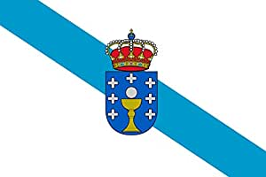 Galicia Bandera | bandera paisaje | 0.06qm | 20x30cm para Diplomat-Flags Banderas de Coche