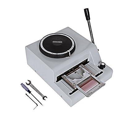 Ridgeyard 72 Character Manual Embosser Embossing Machine PVC Credit Card /Gift Card 72 Letters Embossing Indenting Printing Machine