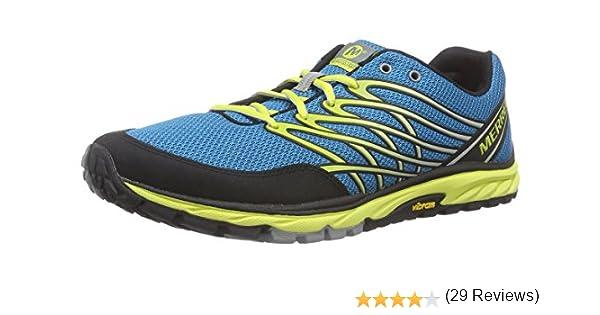 Merrell Bare Access Trail, Zapatillas de Deporte Exterior para Hombre, Azul-Blau (Racer Blue/Bright Yellow), 50 EU: Amazon.es: Zapatos y complementos