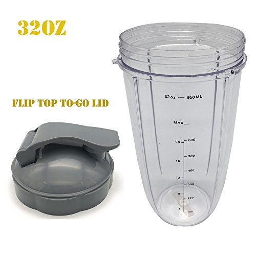 Replacement 32oz Colossal Cup with Flip Top to Go lid For Nutribullet Nutri Bullet Blender,nutribullet cup (1) -  joyparts, 43307-11625