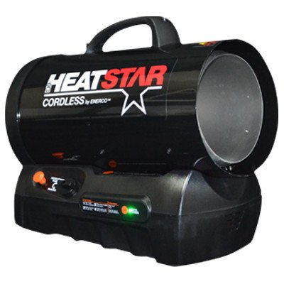 Heatstar By Enerco F128835 Cordless 60K Forced air variable output propane heater HS60CLP (Propane Battery compare prices)