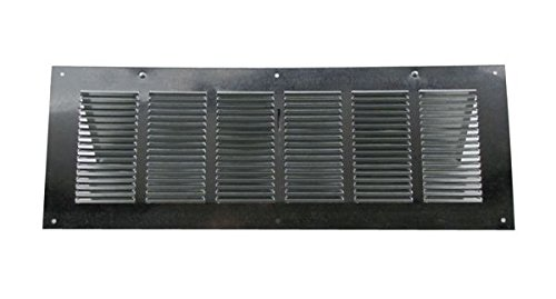 - Louvered Foundation Vent with Screen and Damper - Galvanized 6x16 inch
