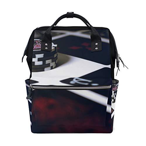 Backpack Poker Chip Art School Rucksack Diaper Bags Travel Shoulder Large Capacity Bookbag for Women Men (Best Laptop For Poker 2019)