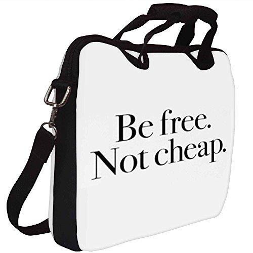 Snoogg Be Free Nicht Günstige Gedruckt Notebook-Tasche mit Schultergurt 15 bis 15,6 Zoll