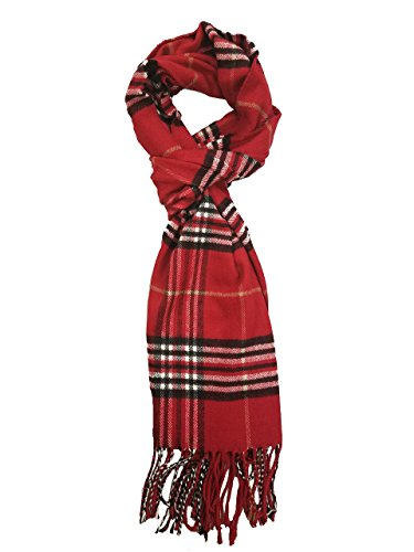ABC Unisex Adult's New Winter Plaid Soft Elegant Cashmere Feel Wrap Scarf, 4