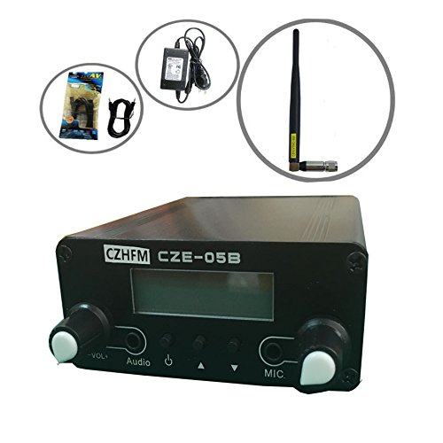(CZH 0.5W CZH-05B/CZE-05B Wireless Long Range Stereo Broadcast FM Transmitter Dual Mode Tnc Antenna Kit)