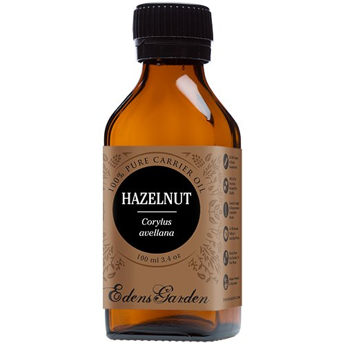 Hazelnut 100% Pure Carrier/ Base Oil- 3.4 oz (100 ml) by Edens Garden