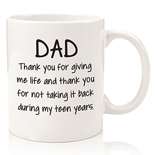 Dad Thank You For Giving Me Life Funny Mug Best Fathers Day Gifts Dads Men From Daughter Or Son Unique Birthday Gift Idea Him Cool Present