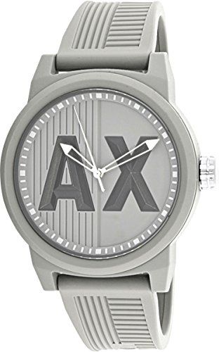 Armani Exchange Men's AX1452 ATLC Grey Silicone (Armani Wrist Watches)