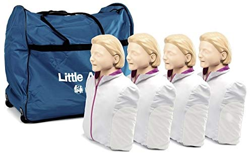 Little Anne CPR AED Manikin 4Pk with Training Mats -Light Skin