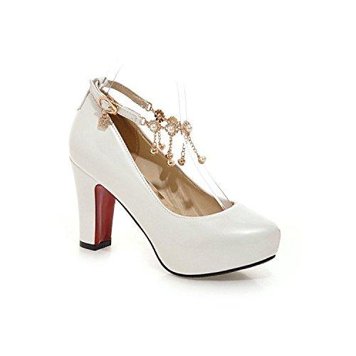 HIGHXE Scarpe da sposa scarpe da sposa scarpe da sposa scarpe da sposa scarpe da festa scarpe da ballo scarpe da ballo scarpe da sposa, bianca, 39