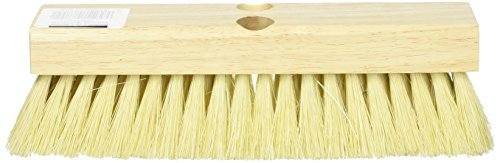 DQB Industries 08755 Tampico Deck Scrub Brush with 1 Tapered and 1 Threaded Hole, 10-Inch