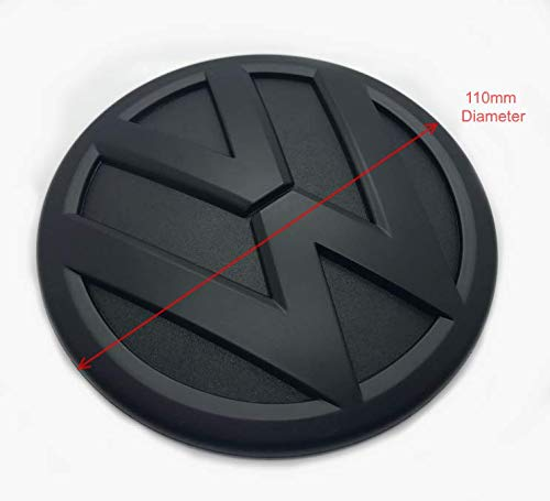 Noir Mat 110mm Arri/ère Boot Lid Tailgate Trunk Badge Embl/ème Pour Polo 6C MK5 2014+