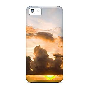 Durable Protector Case Cover With The Yellowest Sunset Hot Design For Iphone 5c