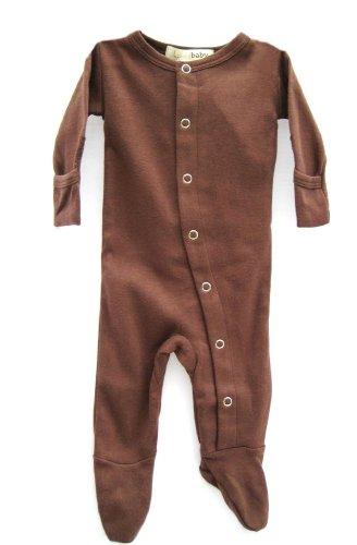Gloved Sleeve Overall - L'ovedbaby Gloved-Sleeve Overall, Brown Newborn (up to 7 lbs.)