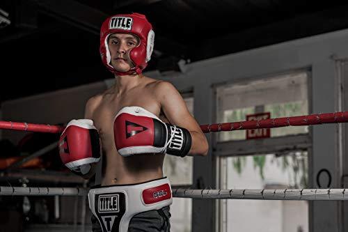 TITLE Gel World Traditional Training Headgear, Red, Regular