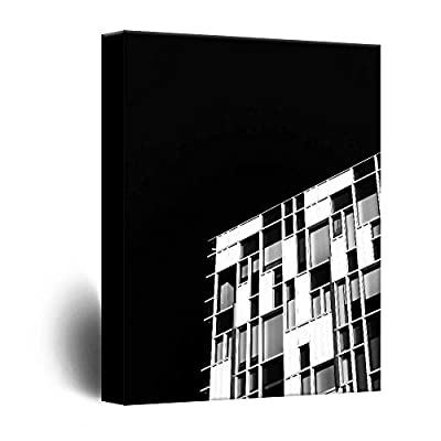 Canvas Wall Art - Modern Architecture in Black and White - Giclee Print Gallery Wrap Modern Home Art Ready to Hang - 12