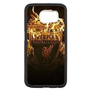 D9C49 Liverpool Logo H9S1YX Funda funda caso Samsung Galaxy S6 teléfono celular de cubierta AS1LPE4EM Negro