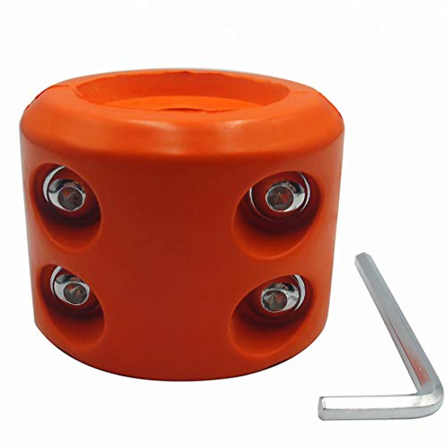 ATV-SCHS Winch Cable Hook Stopper Rubber Winch Line Saver with Allen Wrench for ATV UTV Winches (Orange)