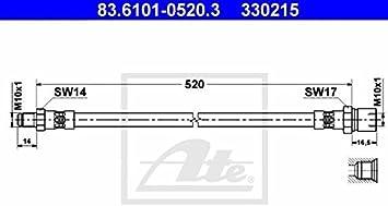 ATE 83.6101-0520.3 Bremsschlauch