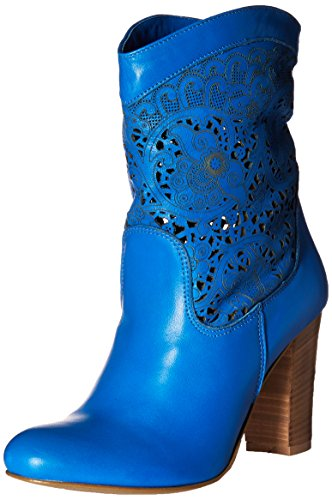 Fly London Mujeres Arizona Western Bota Denim Blue