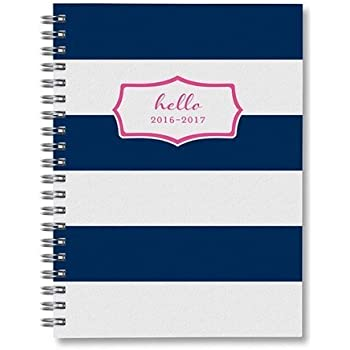 Sarah Pinto Stripe Academic Weekly Planner August 2016 - July 2017, 162 pages, 5 x 7-Inch