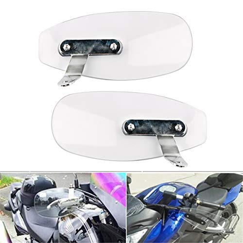 PLSUS Universal Motorcycle Sports Bike ATV Hand Guards Handlebar Protector Handguard Wind Cold Windshield Deflectors Shield Wind Protector
