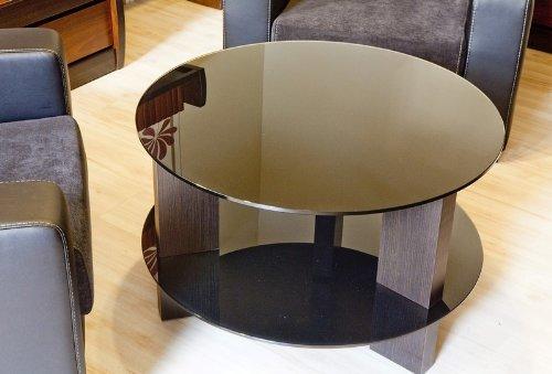 Endo de mesa de cristal redonda y mesa de centro de la mesa de la sala