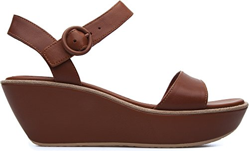 Camper Damas 21923 Medium Brown Womens Ankle Strap Size 37M