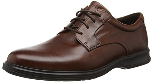 Rockport Dressports 2 Lite Plaintoe - Zapatos Hombre, Marrón - Braun (New Brown Lea), 42