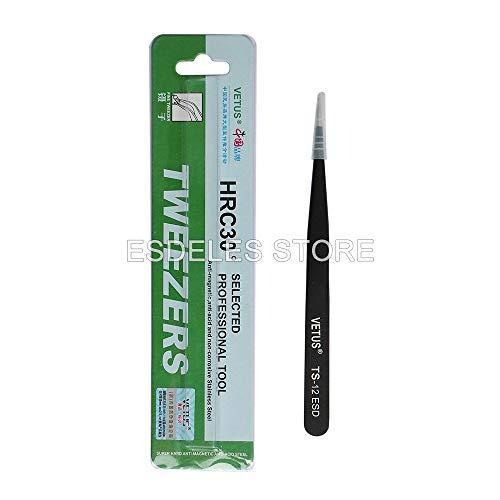 Industrial Tweezers Kit | Stainless Steel | Slim Straight Tweezer | Magnetic Repair Diy Tool by BATOP (Image #6)