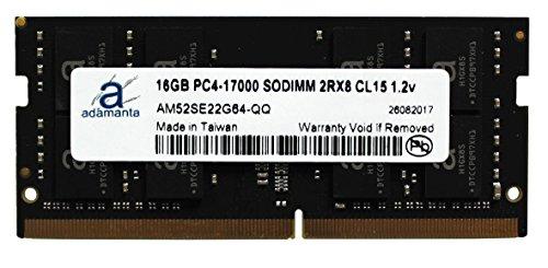 Adamanta 16GB (1x16GB) Laptop Memory Upgrade DDR4 2133Mhz PC4-17000 SODIMM 2Rx8 CL15 1.2v Notebook DRAM RAM