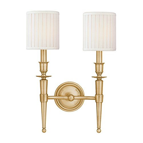 Abington 2 Light Wall Sconce Finish: Aged Brass for sale  Delivered anywhere in Canada