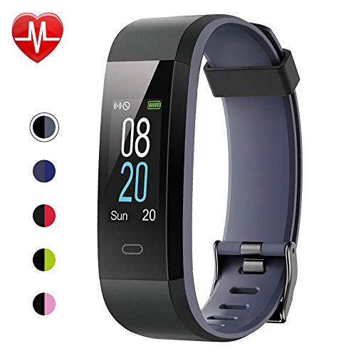 Willful Fitness Tracker with Heart Rate Monitor, Activity Tracker Pedometer with Step Counter Sleep Monitor 14 Sports Tracking,Color Screen IP68 Waterproof,Fitness Watch for Women Men Kids (Gray) (Wrist Heart Rate Monitor Gps)