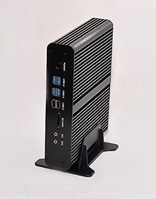 Kingdel Intel Haswell i7 4th Generation CPU Fanless Mini Desktop Computer, Mini PC with 16GB RAM, 512GB SSD, 2HDMI, 2LAN, 1SPDIF, 4USB3.0, Wi-Fi, Windows 10 Pro