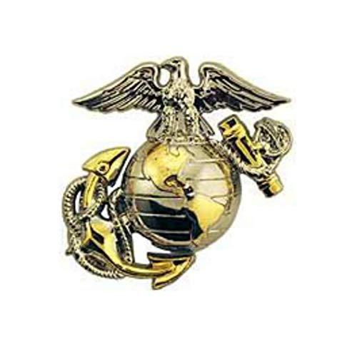 Emblem Usmc (US Marine Corps Emblem, E2, Left Cap Gold Silver USMC Lapel Hat Pin)