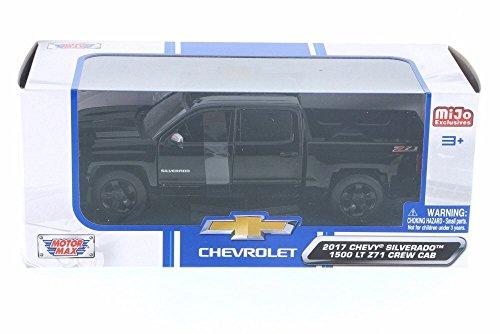 - Motor Max 1:24 W/B - MiJo Exclusives - 2017 Chevrolet Silverado 1500 LT Z71 Crew Cab (Black)