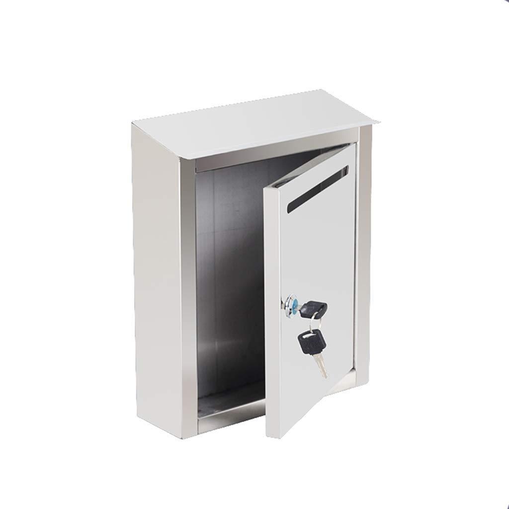 メールボックス、防錆クレーム提案ボックスユニットステンレス鋼レターボックスボックス付きロックメッセージミルクボックス新聞ボックス   B07TT5P7QL