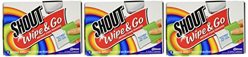 Shout Stain Remover Wipes 12 Pack