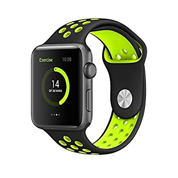 IvyLife Correa Apple Watch 42mm Pulsera iWatch de Reemplazo Ajustable, Carcasa Silicona para Reloj Apple, Brazalete Deportiva para Apple Watch Series ...