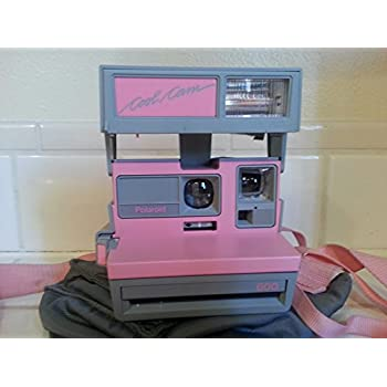 Amazon.com : Vintage Polaroid Pink & Gray Cool Cam 600 Instant ...
