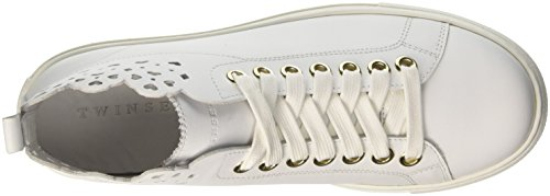Twin Set Cs8tfu, Sneaker a Collo Alto Donna Bianco (Bianco Ottico)