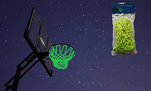 Court Shooting Jersey - Debolic Glow in The Dark Quality Professional Basketball Net Fits Standard Indoor or Outdoor Basketball Hoop Net-2 Packs (White and Green)