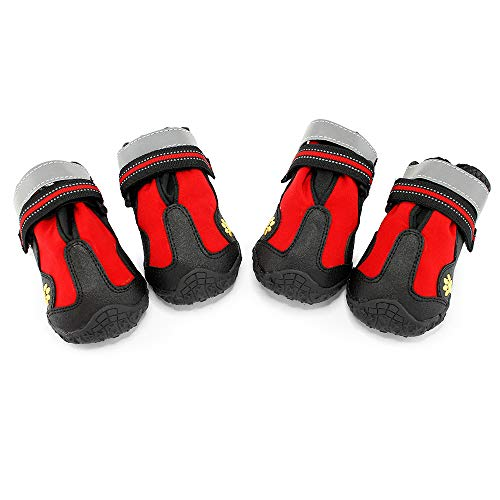 Oct17 Water Resistant Pet Boots Waterproof Indoor Outdoor Dog Shoes - Size 7
