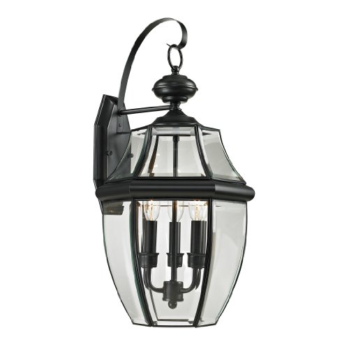 Thomas Lighting  Ashford Coach Lantern, Large, Black Finish -
