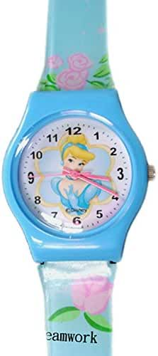Disney Princess Cinderella Watch w/ Light Blue Jelly Band