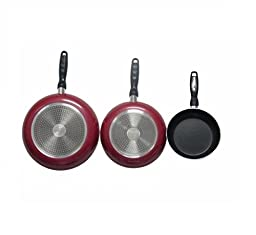 Gourmet Chef Professional Heavy Duty Induction Non Stick Fry Pan Set